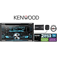 Kenwood DPX792BH Receiver with Built in Bluetooth HD Radio and SiriusXM SXV300v1 Satellite Radio Tuner and Antenna with a FREE SOTS Air Freshener