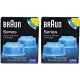 Braun CCR4 Cleaner Refill Kit/Clean Shaver Cleansing Renew CCR 4-Pack Genuine NR