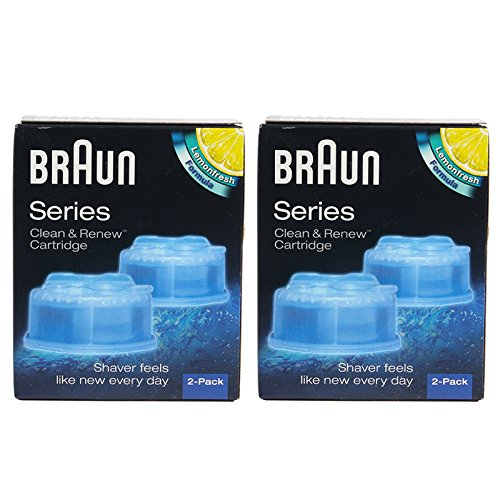 Braun CCR4 Cleaner Refill Kit/Clean Shaver Cleansing Renew CCR 4-Pack Genuine NR (Ccr Braun compare prices)