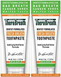 TheraBreath – Fresh Breath Toothpaste – Anti-Cavity Formula – Reduces Tartar – Stops Bad Breath – No Artificial Flavors or Detergents – Mild Mint Flavor – 4-oz. Tubes – Two-Pack