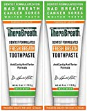 Beauty : TheraBreath – Fresh Breath Toothpaste – Anti-Cavity Formula – Reduces Tartar – Stops Bad Breath – No Artificial Flavors or Detergents – Mild Mint Flavor – 4-oz. Tubes – Two-Pack