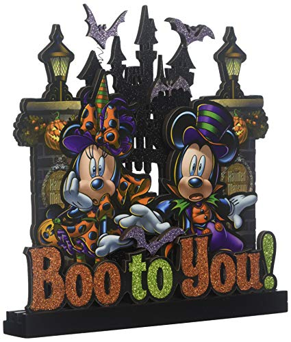 Disney Halloween Sign - Boo to You Mickey and Minnie Mouse ()