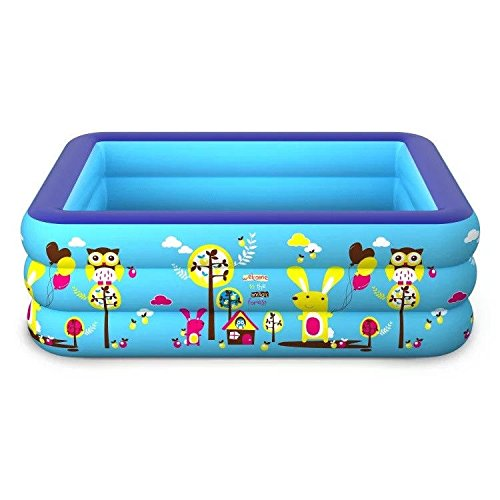 Cyhione Bañera Inflable Tercer Anillo Inflable Rectangular ...