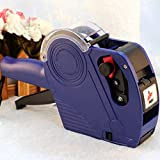 DITOP® MX-5500 8 Digits Single Row Labeler Price Tag Label Gun Marking System for Office & Market & Ink Refill (Blue)
