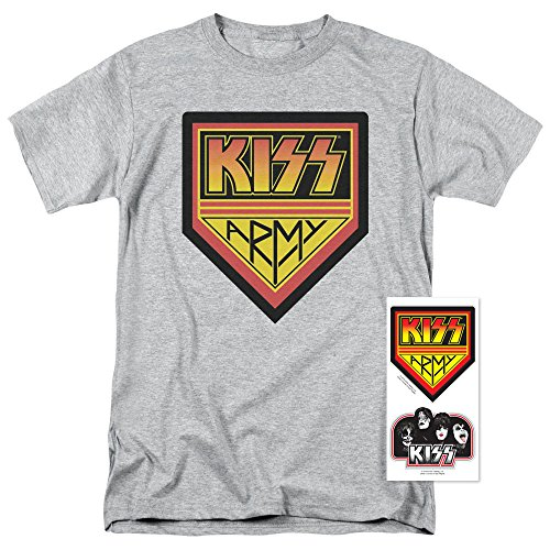 Kiss Army (Kiss Army Rock and Roll Music T Shirt & Exclusive Stickers (XX-Large))