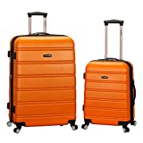 Best Suitcases Sets - Rockland 2-Piece Expandable Spinner Set Plus, Orange, 20-Inch/28-Inch Review