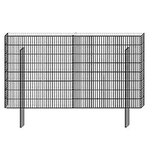 Bellissa–Rejilla Muro muro Sistema Limes 23Base montar H 90cm Gavión Muro rejilla Visión Protección contra Viento ruido pared