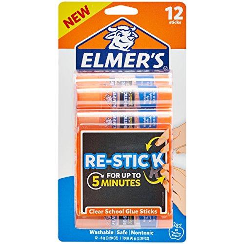 Elmer's Re-Stick School Glue Sticks, 0.28-Ounces, 12 Count by Elmer's