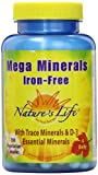 Nature's Life Veg Capsules, Mega  Minerals, Iron Free, 100 Count For Sale