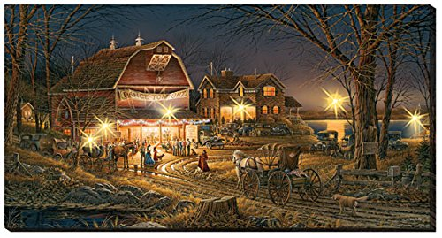 Wild Wings Harvest Moon Ball Lighted Wrapped Canvas by Terry Redlin
