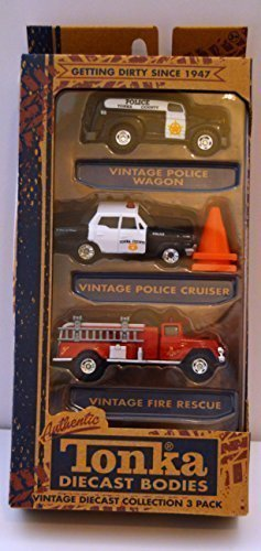 Tonka Authentic Diecast bodies 3 pack,Police Wagon,Police for sale  Delivered anywhere in USA