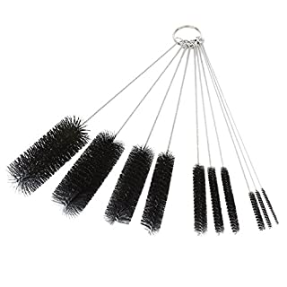 DXG Cleaning Brushes, 8.2 Inch Nylon Tube Brush Set Pipe Cleaner Set for Drinking Straws, Glasses, Keyboards, Jewelry Cleaning, Set of 10