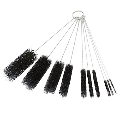 Dxg 8.2 Inch Nylon Tube Brush Set Cleaning Brush Set for Drinking Straws, Glasses, Keyboards, Jewelry Cleaning, Set of 10 (Brushes Bottle Small)