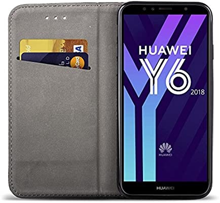 Moozy Funda para Huawei Y6 2018, Negra: Amazon.es: Electrónica
