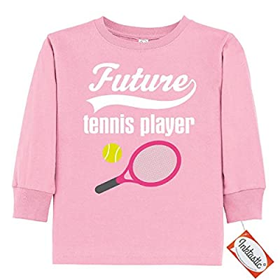 Inktastic Little Boys' Future Tennis Player Sports Gift Toddler Long Sleeve T-Shirt