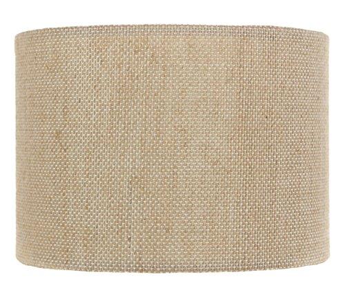 Upgradelights 5 Inch Retro Barrel Drum Clip on Chandelier Lampshade (Burlap) 5.5x5.5x4 (Barrel Pendant Shade)