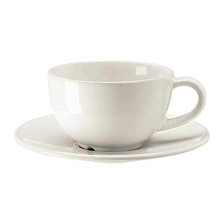 16182bdbe1dd Ikea Vardagen Coffee Cup and Saucer off- White Size 5 oz 002.883.13   Amazon.co.uk  Kitchen   Home