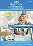 Amscan All Aboard Boy 1st Birthday High Chair Decorating Kit, Large, Blue/White