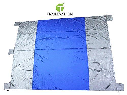 Parachute Fabric Beach Blanket / Picnic Blanket 7' X 9' Extra Large