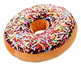 Doughnut Donut Plush Play Doll Filling Toy Stuffed Throw Pillow Stuffing Seat Chair Back Cushion for Teen Boy Girl Classroom Bedroom Playroom