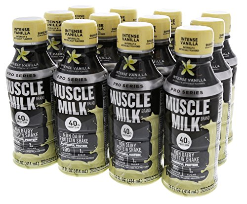 Muscle Milk Pro Series, Mega Protein Shake, Intense Vanilla, 14 Ounce, Pack of 12 For Sale