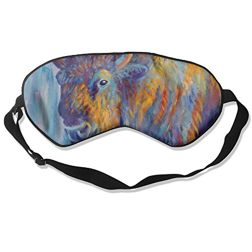 (Sleep Mask Bison Painting Eye Cover Blackout Eye Masks,Soothing Puffy Eyes,Dark Circles,Stress,Breathable Blindfold)