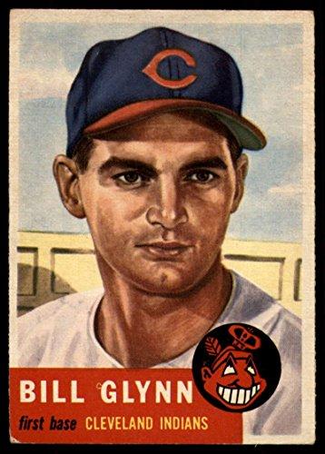 - Baseball MLB 1953 Topps #171 Bill Glynn VG Very Good RC Rookie Indians