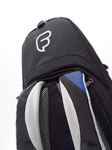 Fusion Premium Series (FB-PW-02-B) - Tenor Saxophone Gig Bag, Black/Blue by Fusion (Image #4)