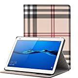 MIYA LTD Huawei Mediapad M3 Lite 10.1 inch Case, Luxury Folio Case Ultra Slim Stand Smart-shell With [Card Slots] PU leather Smart Protective Cover ONLY for Huawei Mediapad M3 Lite 10.1''-Grey