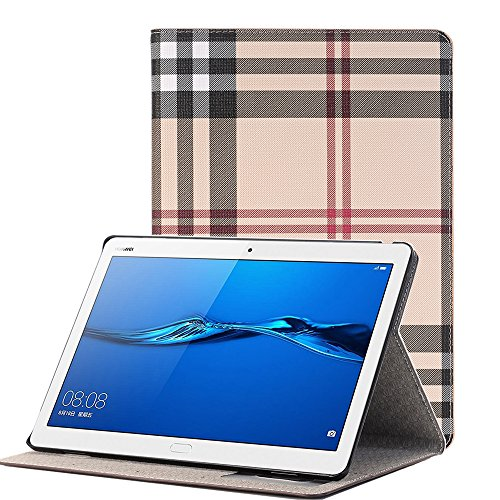 MIYA LTD Huawei Mediapad M3 Lite 10.1 inch Case, Luxury Folio Case Ultra Slim Stand Smart-shell With [Card Slots] PU leather Smart Protective Cover ONLY for Huawei Mediapad M3 Lite 10.1''-Grey by MIYA LTD