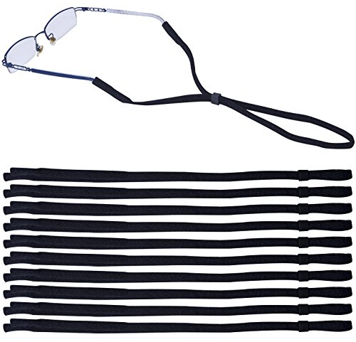 Leyaron 10 Pack Universal Eyewear Retainer Sports Sunglass Holder Straps, Safety Glasses Eyeglasses Neck Cord String Lanyard Strap