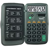 Thomas Big Digit Solar Powered Calculator, 2-3/8 Width x 4-1/4 Height x 1/4 Thick