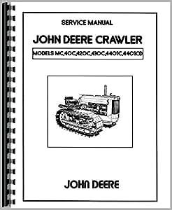 John Deere 40C Crawler Servicio Manual (1953–1955)