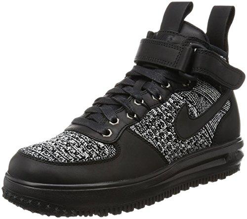 Nike Vrouwen Lf1 Flyknit Workboot Hi Top Laarzen Trainers 860.558 Sneakers Zwart / Zwart-wit-cool Grey