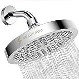 SparkPod Cabezal de regadera - Lluvia de alta presión - Diseño de cromo moderno y lujoso - Instalación sencilla sin herramientas - El reemplazo ajustable perfecto para los cabezales de regadera de tu baños