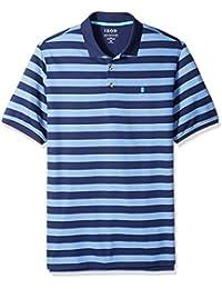 Men's Big and Tall Short Sleeve Advantage Stripe Polo