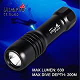 ULTRAFIRE Scuba Dive Light 630 Lumens Mini Diving Flashlight