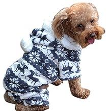ABC(TM) 1PC Fashion New Stylish Pet Dog Warm Clothes Puppy Jumpsuit Hoodie Coat Doggy Apparel (Gray, M)
