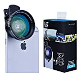 #7: Apexel 2-in-1 Cellphone HD Camera Lens Kit 0.63x Wide Angle Lens and 12.5x Macro Lens for iPhone 6/6s 6plus/6s plus Samsung Galaxy S6/S6 Edge S7/S7 Edge Note 5/4 and most Smartphone