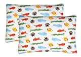 Toddler Pillowcase, 2 pack- Premium Organic Cotton, EXTREMELY SOFT & BREATHABLE, toddler pillowcase 13x18, SAFARI