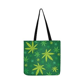 Bolso bandolera de lona de marihuana verde Bolso de ...