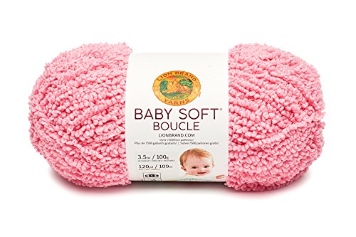 - Lion Brand Yarn 918-103 Baby Soft Boucle, Candy Pink