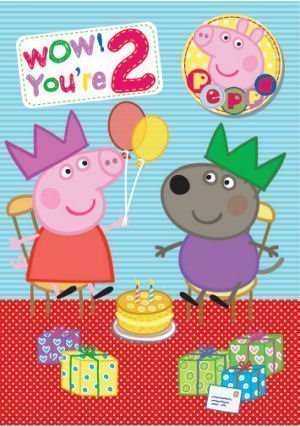 Amazon.com: Peppa Pig Edad 2 Tarjeta de cumpleaños ...