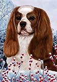 Cheap Cavalier King Charles Blenheim – Best of Breed Winter Berries Large Flag