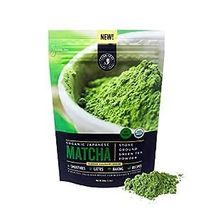 Matcha Green Tea Powder, Organic - Authentic Japanese Origin, Superior Quality, Classic Culinary Grade (Smoothies, Lattes, Baking, Recipes) - Antioxidants, Energy - Jade Leaf Brand [100g Value Size]