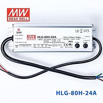 Alimentatore LED 81w 24v 3,4a; MeanWell hlg-80h-24a; quadri Alimentatore