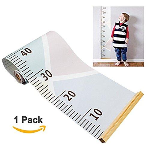 Baby Growth chart Wall Hanging righello, Amariver tela removibile altezza crescita grafico parete decorazione camera per bambini, stile macaron, 200,7x 20,1cm Bonabon