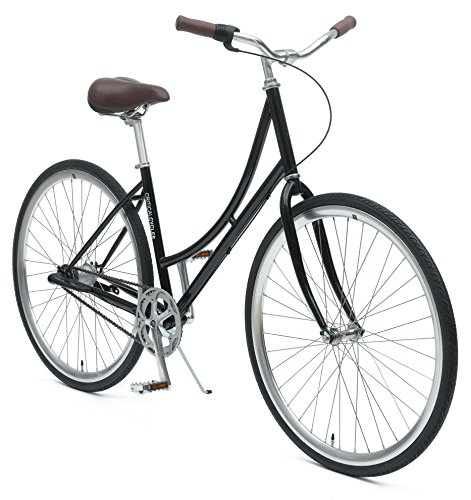 Critical Cycles Dutch Step-Thru 3-Speed City Coaster Commuter Bicycle, Black, 44cm/One Size