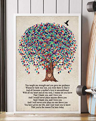 Mother Song Lyrics Portrait Poster Print Mattata Decor (12