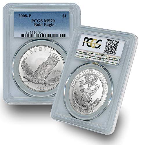 2008 P - Silver Commemorative Bald Eagle $1 MS70 PCGS